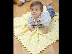 mantitas para bebe en crochet paso a paso - YouTube