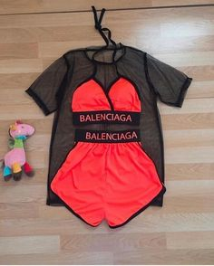 baddie outfits for high school Biker shorts outfit Biker Shorts outfits Cute Lazy Outfits, Cute Swag Outfits, Crop Top Outfits, Sporty Outfits, Stylish Outfits, Girls Fashion Clothes, Teen Fashion Outfits, Outfits For Teens, Girl Outfits