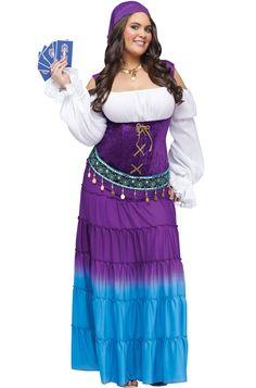 Gypsy Moon Plus Size Costume - Pure Costumes