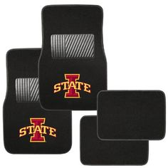 Pilot Alumni Group FM-958 Universal Fit Four Piece Floor Mat Set (Collegiate Iowa State Cyclones)