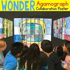 "Add a new ""twist"" to your Wonder novel studies with my 3-way agamograph classroom collaboration poster. This project is a ""3-way"" agamograph (3 images spliced together) and a collaboration poster all mixed into one. It is approximately 26 inches x 28 inches when complete."