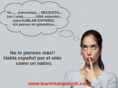 Learn How to Speak Spanish.  Improve your speaking skills. Try Learn Real Spanish.
