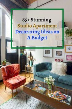 65+ Stunning Studio Apartment Decorating Ideas on A Budget #apartmentdecoratingideas Studio Apartment Decorating, Small Apartments, Decorating Ideas, Budget, Small Flats, Tiny Apartments, Studio Decorating, Budgeting