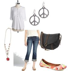 Casual pring outfit, created by #lynnerambling on #polyvore. #fashion #style Lucky Brand
