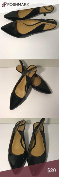 Merona Black low Heels Merona Black Point Tow low heel. Back strap heel. Size 8.5 Merona Shoes Heels