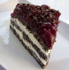 Csiperke blogja: Meggyes-mákos habos torta Hungarian Desserts, Hungarian Recipes, No Salt Recipes, Cooking Recipes, Dessert Cookbooks, Sweet Tooth, Dessert Recipes, Food And Drink, Sweets
