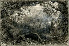 print study / drawing.  Samuel Palmer