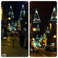 luci di Natale in via Milano , Torino
