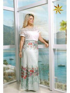 Conjunto Lirios Fasciniu's 8720 Primavera Verão 2016 Plus Size - Estrela Evangelica