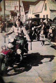 Vintage motorcycle girls apologise, but