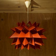 Anton Fogh Holm and Alfred J. Andersen; Enameled Steel Pendant Light for Nordisk Solar Compagni c1960.