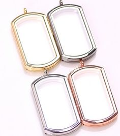Dog Tag Locket Comes with matching 26 in. chain Made of Alloy ~ More Colors Coming Soon! Locket Bracelet, Locket Charms, Floating Lockets, Floating Charms, Puzzle Box, Decoration, Dog Tags, Jewelry Accessories, Pendants