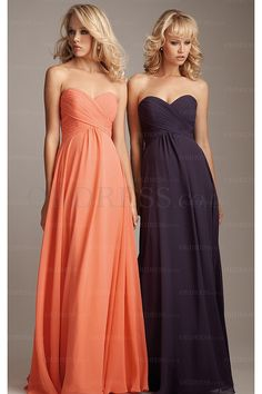 2016 A-Line Sweetheart Pleated Zipper Floor-Length Bridesmaid Dresses - by OKDress UK