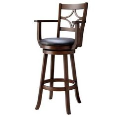 Emerson Diamond Back Swivel Bar Stool with arm rests - Espresso : Target Mobile What if you painted and possibly reupholsteredone like this Short Bar Stools, Black Bar Stools, Counter Height Bar Stools, Cool Bar Stools, Metal Bar Stools, Modern Bar Stools, Swivel Bar Stools, Kitchen Stools With Back, Bar Stools With Backs