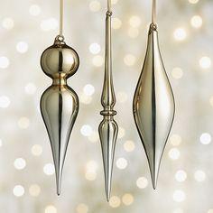 Shiny Gold Drop Ornaments, $5.95