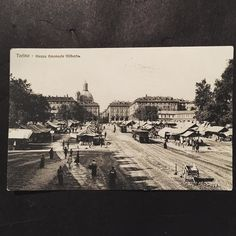 Get to know the mountains the forests the rivers lakes and coasts the deserts and plains and both big cities and the smallest hamlets and their roads and seasons between them all and you know a people. This postcard shows  the Piazza Emanuele Filiberto in Torino Italy it was postmarked in 1908. #postcardoftheday #postcard #postcards #travel #mountains #theroad #wander #love #torino #turin #piazza #italy #market #fleamarket #antique #photography #humanity #nature #earth #blackandwhite…