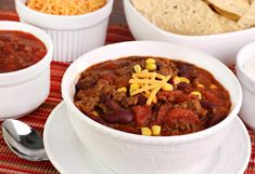 Taco Soup Recipe - Easy Soup Recipes _ sub. fresh ingredients like tomoatoes and corn. Easy Soup Recipes, Gourmet Recipes, Paleo Recipes, Crockpot Chicken Taco Soup, Thermal Cooking, Soups And Stews, Cooker Recipes, Food Print, Spicy