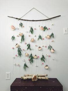Diy Flower Wall Headboard Home Decor Dream Dorm Pinterest