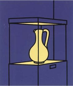 Patrick Caulfield (British, 1936-2005), Vase on Display. Screenprint in blue, black and yellow, 1971, on wove paper, numbered 29/100, sheet,...