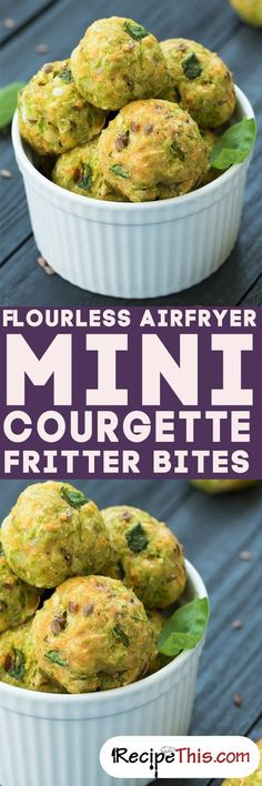 Flourless Air Fryer Mini Courgette Fritter Bites