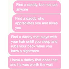 daddy kink ❤ liked on Polyvore featuring text