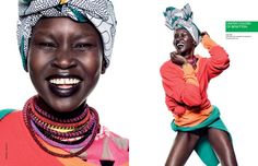 Alek Wek, Charlotte Free, Lea T. and Elettra Wiedemann Front United Colors of Benettons Spring 2013 Campaign