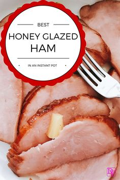 Best Instant Pot Honey Glazed Ham Made In Under 10 Minutes so easy to make and fast to clean up, Don't heat up your oven,use your Pressure Cooker Easy Ham Recipes, Apple Recipes, Cooking Recipes, Cooking Ham, Fast Recipes, Cooking Pasta, Meal Recipes, Pork Recipes, Crockpot Recipes