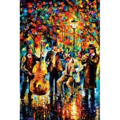 "Andover Mills Glowing Music' Painting Print on Wrapped Canvas Size: 60"" H x 40"" W x 1.5"" D"