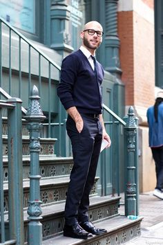 Great outfit and attitude. Slightly bigger beard would balance it out, making it a little less geeky-professor.