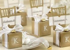 50pc Chair Monogram Place Name Favor Gift Candy Box Wedding Favor Party Supplies