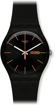 Unioncy - Swatch Dark Rebel Black Silicone Unisex Watch SUOB704. Want it? Own it? Add it to your profile on unioncy.com #gadgets #tech #electronics