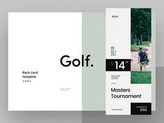 Golf Tournament Rack Card Template by Serge Mistyukevych