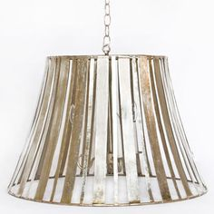 Love this.  A large silver pendant with great lines.  Simple but what a statement.  Would be great over a table or in an entrance way.