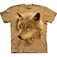 Wolf Golden Eyes Kids T-Shirt