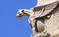 famous gargoyle of clinton, Town hall, Clinton, Massachusetts (1909), Peabody & Stearns