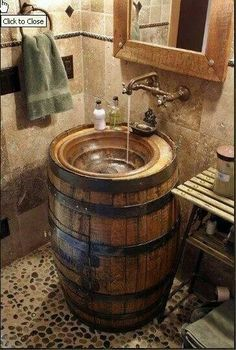 We have the barrel now ordering the sink and faucet!