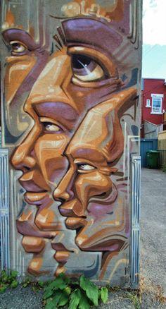 "MONK.E...""Geomaitrise"" Street Art. Hochelaga 2013"