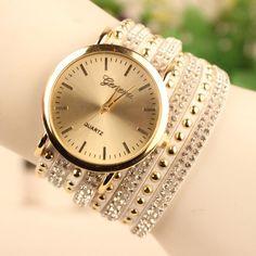 Fashion Rivet Bracelets Watch