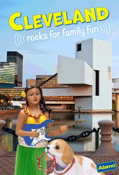 Leilani Says:The Rock and Roll Hall of Fame is fun for kids and parents alike. You can see cool guitars, music paraphernalia, even outfits famous musicians have worn. I guess sequin bellbottoms were pretty popular. I wonder if they make sequin grass skirts...Dash's Doggy Tip: They don't let me in the Hall of Fame so I usually take this opportunity to visit one of Cleveland's fancy dog spas. I need to go back soon, my cuticles are a mess.