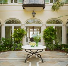 Detail of the Elegant Courtyard After Styling