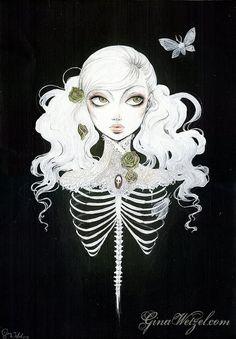 Ribcaged Illustration by BlackUnicornShop