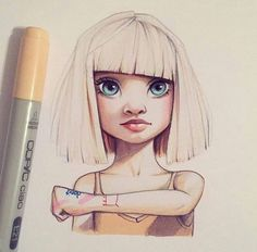 Resulting from images of Christina Lorre & # rihanna - Character Design Club 2019 Doodle Drawing, Drawing Sketches, Sketch Art, Drawing Ideas, Sketching, Draw Realistic, Character Drawing, Art Inspo, Amazing Art