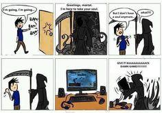 "On-line gaming cartoon. Possibly belongs under ""So true!"""
