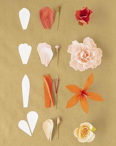 modèles de fleurs en papier crépon à faire pour la fête des mères