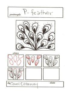 P-Feather: Zentangle Pattern