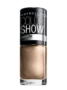 Maybelline New York Color Show Nail Lacquer Vernis in Bold Gold - LOVING THIS COLOR! So into the coppers and golds for fall... I have this one >.