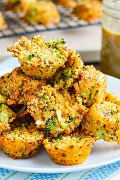 Broccoli and Cheddar Quinoa Bites