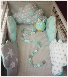 Baby Bedroom, Baby Boy Rooms, Baby Room Decor, Baby Cot Bumper, Patchwork Baby, Baby Mobile, Baby Sewing Projects, Baby Couture, Quilt Baby