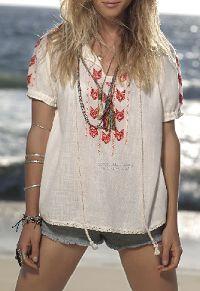 Hippie Style Peasant Blouse.