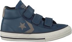 gave Blauwe Converse Sneakers STAR PLAYER MID 3V KIDS